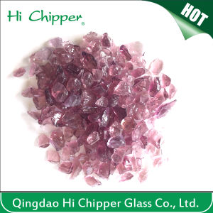China Lanscaping Glass Sand Crushed Light Purple Glass Chips