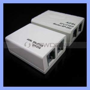 Telephone Phone Fax Network Rj11 Cable ADSL Modem Micro Filter Splitter pictures & photos