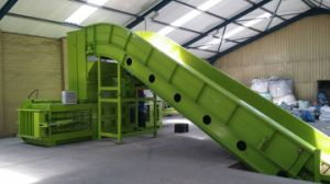 100t Horizontal Baler with Closed Gate