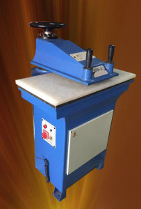Oil Hydraulic Swing Arm Leather Cutting Machine Shoe Making Machine (GSB-2C/12) pictures & photos