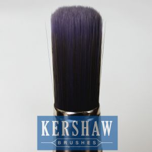 Round Brush (Paintbrush with purple tapered filament and hard wood handle, flat-round brush) pictures & photos