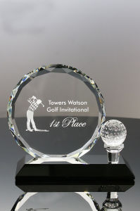 Optic Crystal Golf Award for Corporations Trophies pictures & photos