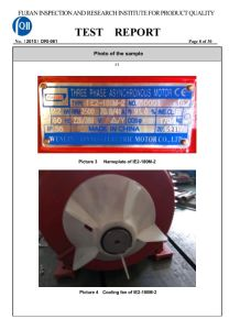 Ie2 Ye2 Saso Ie2 Testing Report Three Phase Electric Motor pictures & photos