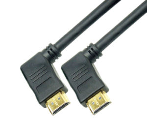 Hright Angle Left 90 Degree HDMI Cable Support 3D 1080P pictures & photos