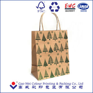 2016 OEM Custom Christmas Gift Printed Shopping Paper Bag, Kraft Paper Bag pictures & photos