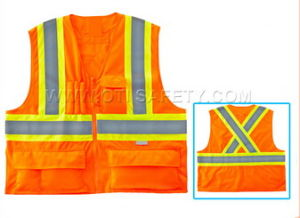 Warning Reflective Kids Safety Vest Meets CE En471 pictures & photos