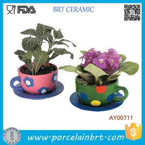 China Teacup Garden Plant Pots Ceramic Outdoor Large Flower Pots