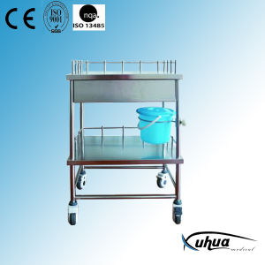 Stainless Steel Hospital Medical Treatment Trolley (Q-22) pictures & photos