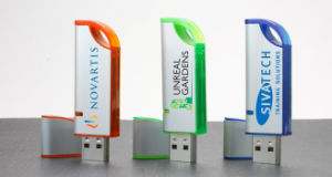Curve Custom Premium Plastic USB Flash Drive with Your Logo (ALP-009U) pictures & photos