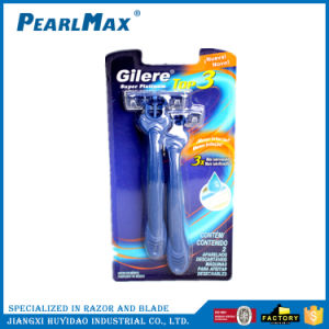 New Plastic Handle Disposable Razor for Triple Blades pictures & photos