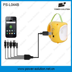 Portable 3.7V/2600mAh Lithium-Ion Solar Battery Rechargeable LED Solar Light with Phone Charging for Room pictures & photos