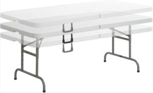 China Wholesale Adjustable Plastic Folding Picnic Table pictures & photos