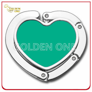 Full Color Folding Metal Handbag Hanger with Heart Shape pictures & photos