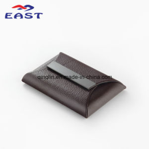 Wholesale PU Metal Business Card Case with Custom Logo