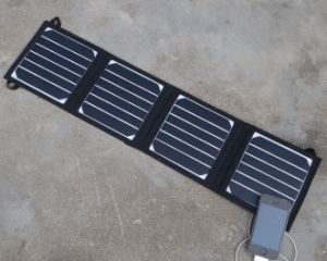 Foldable Solar Power Charger Portable Outdoor Travel Solar Power Pack Solar Charger Bank 14W