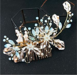 China Women Headpiece Bridal Hair Comb Freshwater Pearl Crystal Bridal Hair Piece Jewelry For Wedding Dancing Side Combs China Bridal Headpieces And Bridal Headband Price