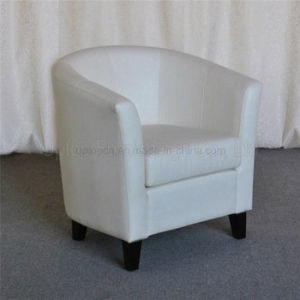 Chesterfield Single White Artificial Leather Round Circle Tub Chair  (SP HC535)