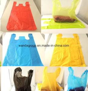 Multi Color Plastic Shopping T-Shirt Vest Bag