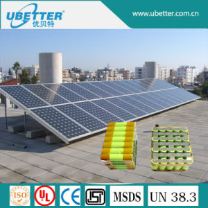 18650 12V 123.2ah Lithium Battery Pack for Solar Power pictures & photos