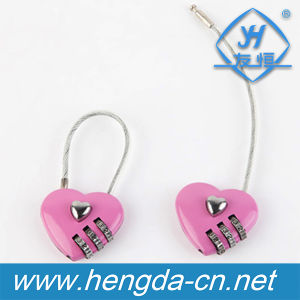 Yh9934 Digital Love Heart Shaped Combination Padlock pictures & photos