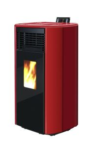 2017 Red Pellet Stove with Double Door