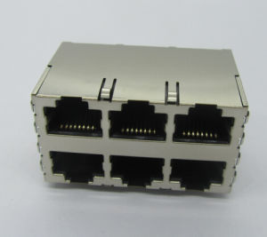 RJ45 Connector 2X3p PCB Jack Cat5 Shield 8p8c pictures & photos