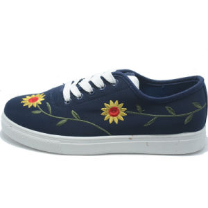 New Inwrought Sunflower Classical Student Women Men Rubber Shoes pictures & photos