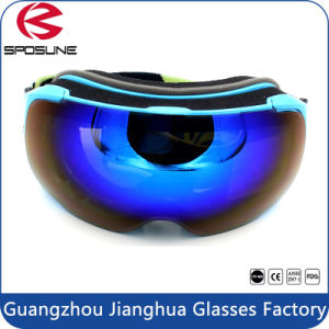 100% UV Protection Magnet Lens Comfortable Face Foam Skiing Sports Snow Goggles pictures & photos