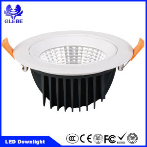 7W COB White Aluminum Dimmable Warm White LED Downlight Round/Square pictures & photos