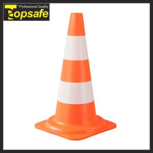 European Style 50cm Traffic Cone with Reflective Collar (S-1207) pictures & photos