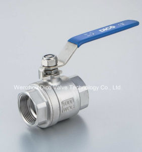 2PC Thread Stainless Steel Ball Valves with Ce Heavy Type pictures & photos