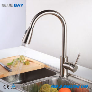 China Pull Out Spray Brushed Nickel Kitchen Faucet Mixer Tap China