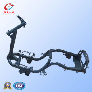 Structural Motorcycle Frame with Black Electrophoresis/ATV Parts/Accept OEM Service pictures & photos