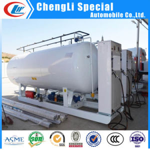 5mt LPG Gas Cylinder Filling Skid Station 10000liters with Double Nozzle Dispenser pictures & photos