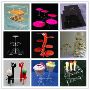 Clear Acrylic Stand for Cake Decoration (BTR-K3023) pictures & photos