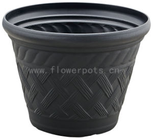 Rattan Plastic Flower Pots (KD9422) pictures & photos