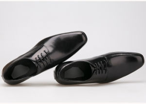 ed606a021d5 China Cow Leather Oxford Shoes Mens Black Formal Dress Shoes - China ...