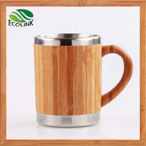 Customized Bamboo Cup Bamboo Coffee Mug with Stainless Steel Inner