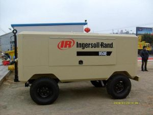 Ingersoll Rand Portable Compressor Vhp750e, Motor Drive Compressor; Electric Drive Compressor; Screw Type Compressor, Lubricated