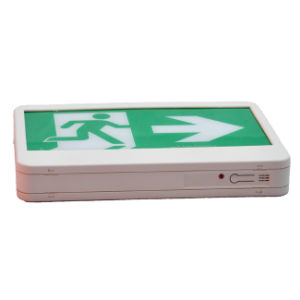180 Mins Fire Retardant ABS UL LED Exit Sign with Running Man Legend pictures & photos