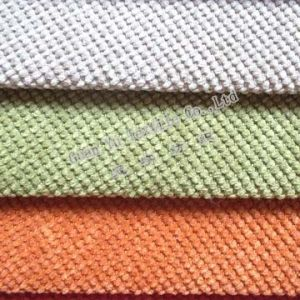 Polyester Sofa Upholstery Corduroy Fabric Grid Design pictures & photos