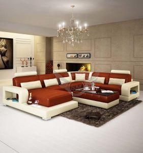European Gorgeous U Shape Interior Leather Corner Sofa Set Designs