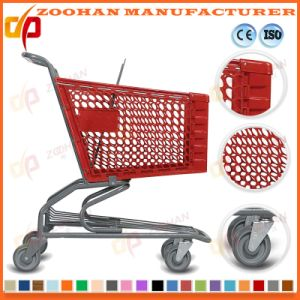 Wire Metal Chrome Zinc Wheeled Grocery Shopping Cart Trolley (Zht159) pictures & photos