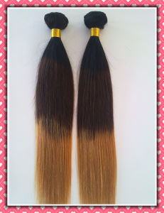 "Quality Human Hair Weave Three Tone Color Straight20"" Unprocessed Virgin Brazilian Hair pictures & photos"