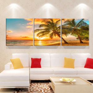 3 Piece Modern Wall Art Printed Painting Seascape Painting Room Decor Framed Art Picture Painted on Canvas Home Decoration Mc-240 pictures & photos