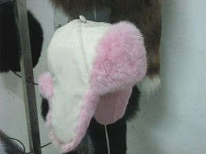 Pink Fox Fur Hat (007)