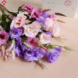 China Wholesale New Silk Decoration Cheap Artificial Flower Eustoma Grandiflorum China Artifiacial Flower And Artificial Flower Eustoma Grandiflorum Price