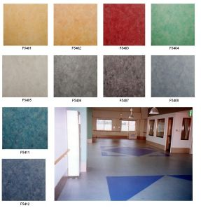 Heterogeneous PVC Flooring 2.6mm*1.83m*20m/Roll pictures & photos