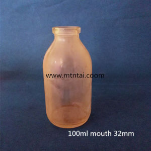 100ml Clear Glass Infusion Bottles with Sulfuration pictures & photos