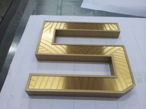 Channel Letter Golden Letters Stainless Steel Letter as Outdoor Signage pictures & photos